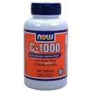 C-1000, 100 Tabs ( with ROSE HIPS & Bioflavonoids)